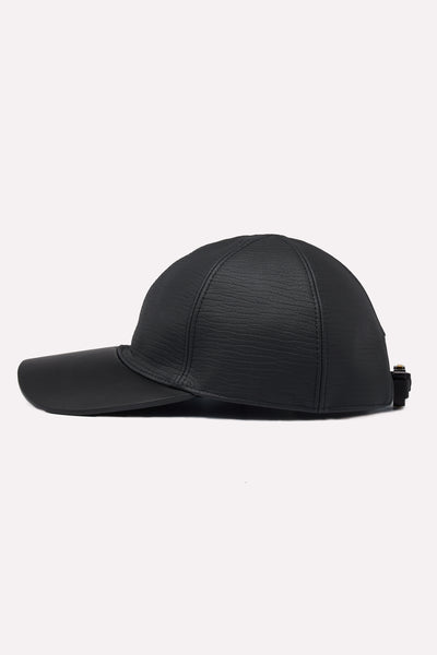 1017 Alyx 9sm - Classic Hat In Leather W/ Buckle Black