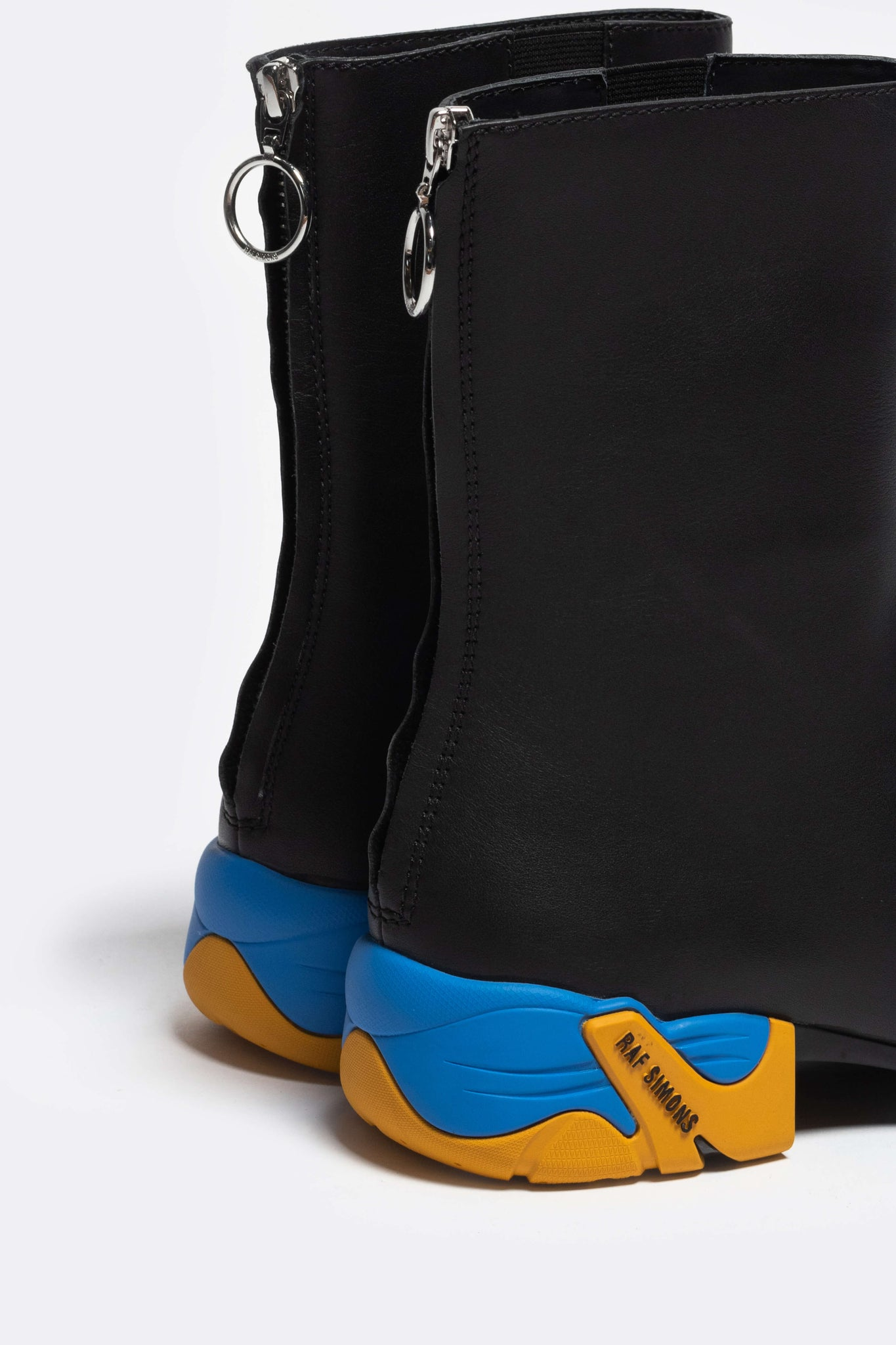 Solaris-2 High Leather Black/blue/yellow