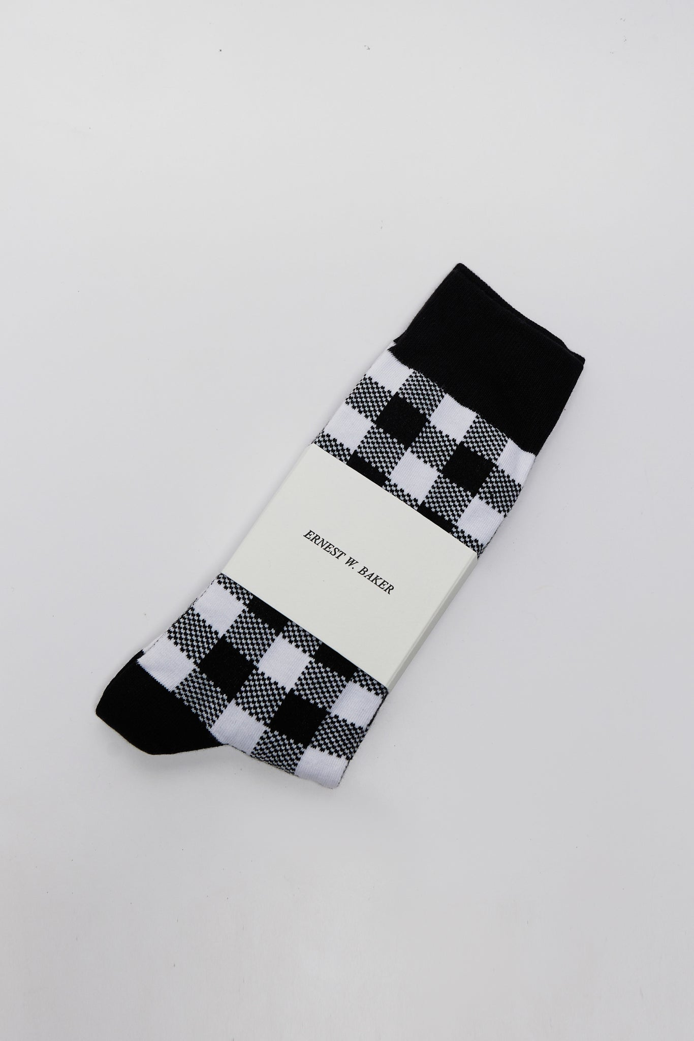 Check Jacquard Socks Black&white