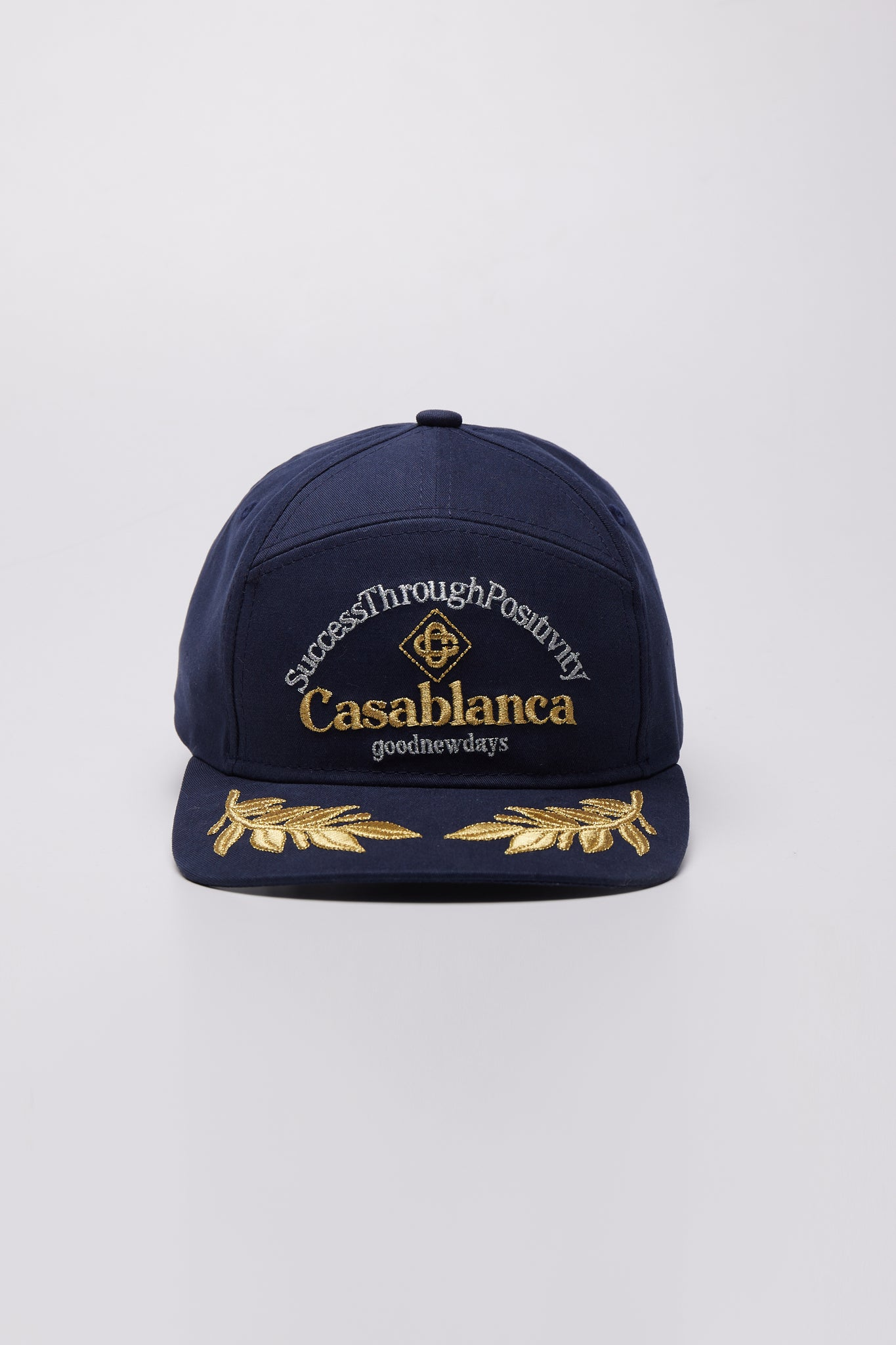 Success Through Positivity Embroidered Cap Navy