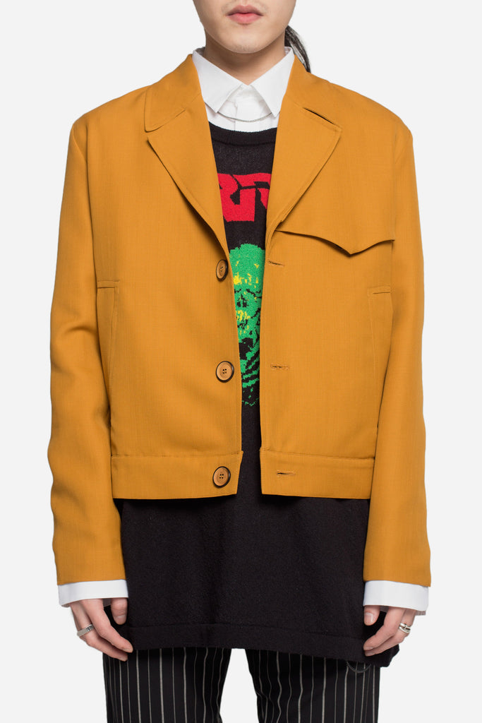 Wyatt Half Lined Wool Jacket Saffron