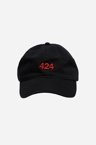 424 Cap Black With Red