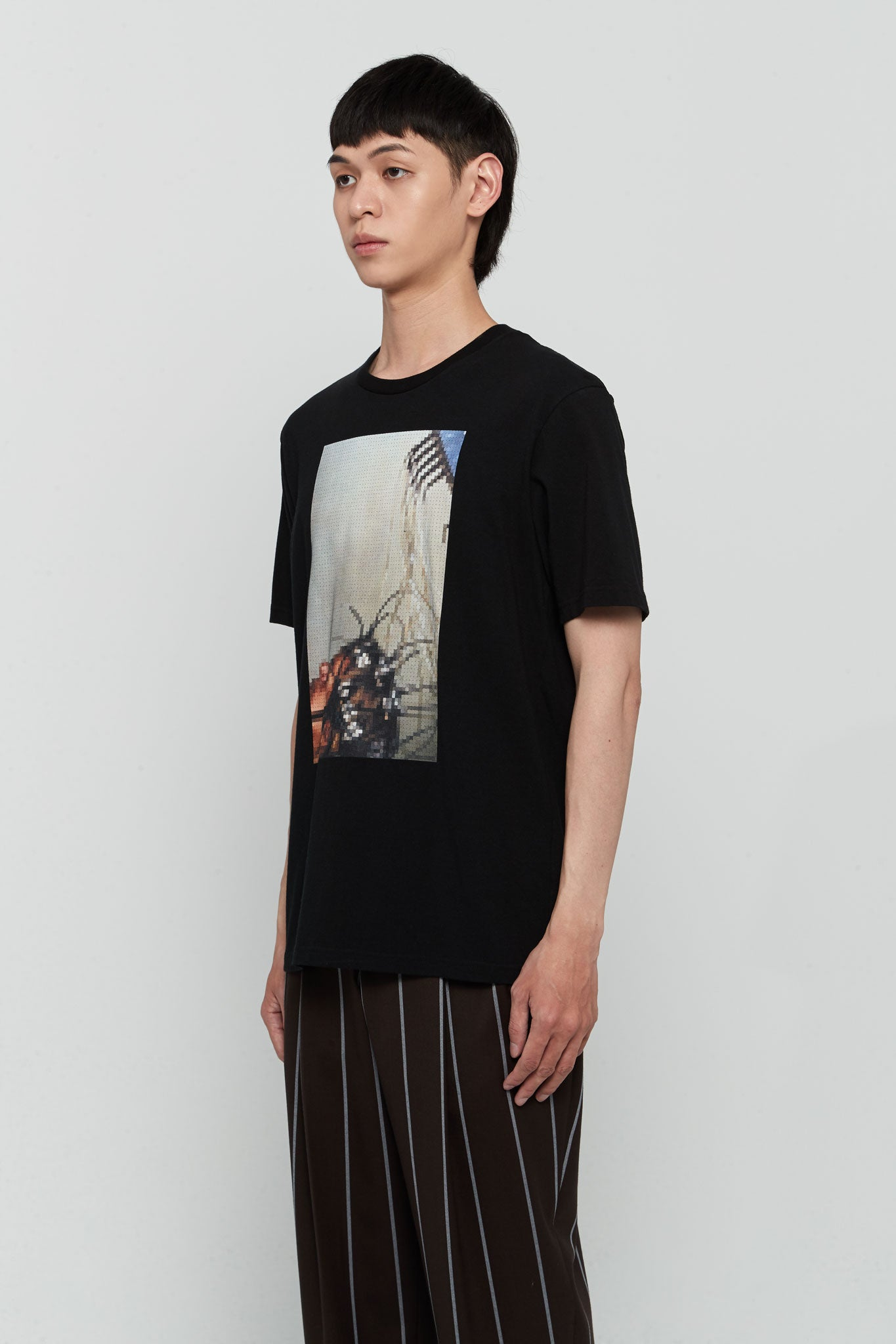 Graphic Printed Tee Black