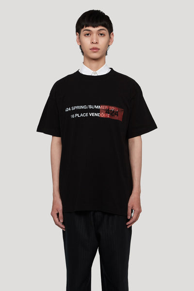 424 - SS19 Tee Black W/ Red