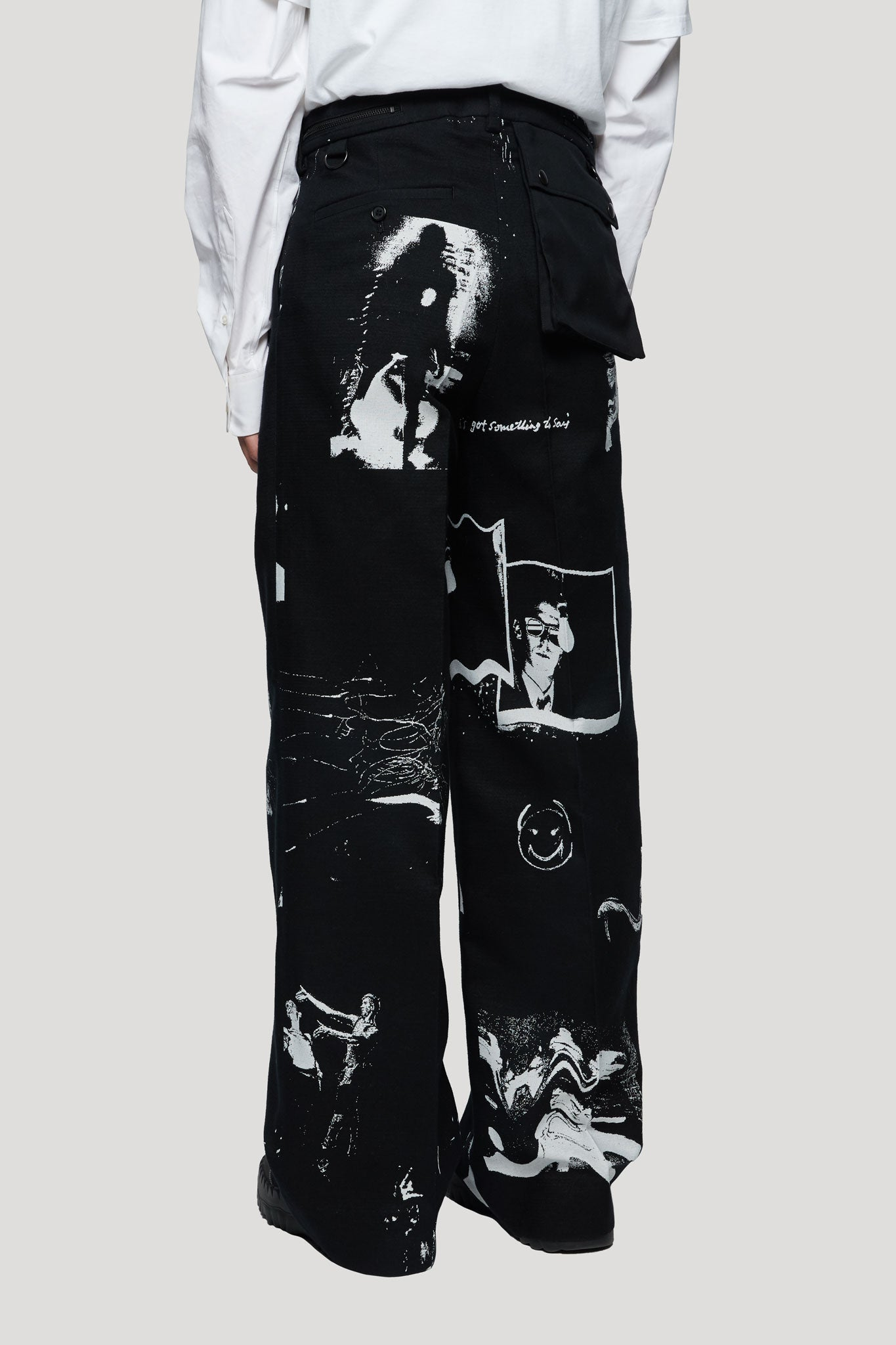 Graphic Printed Trousers Black