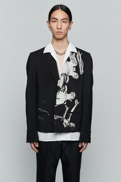 Undercover - Printed Suit Jacket Black