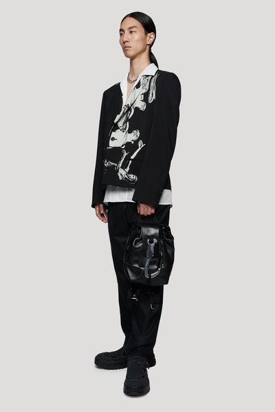 Printed Suit Jacket Black