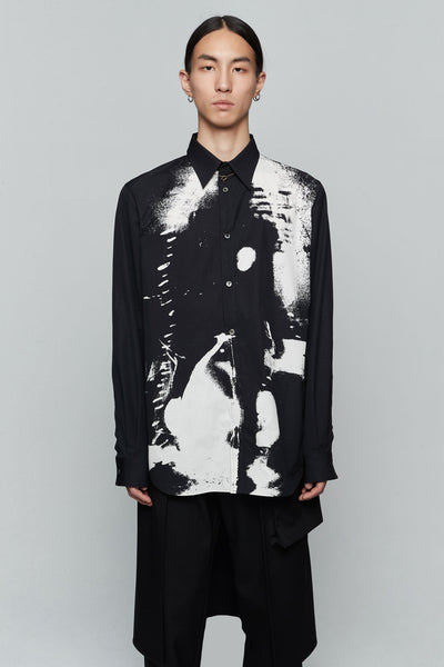 Undercover - Printed Lonsleeve Shirt Black