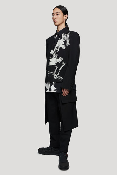 Printed Lonsleeve Shirt Black