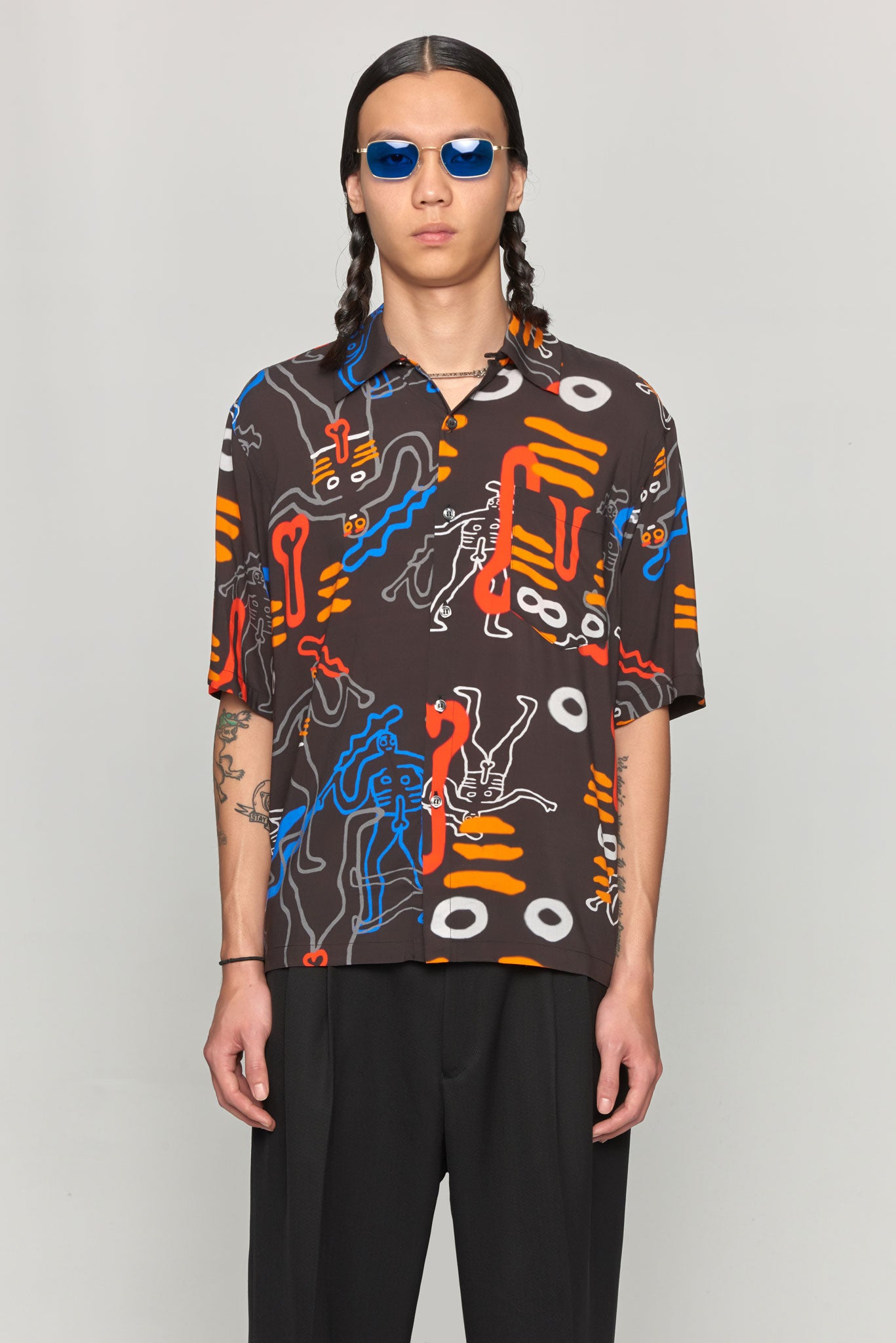 Dude Bowling Shirt Black