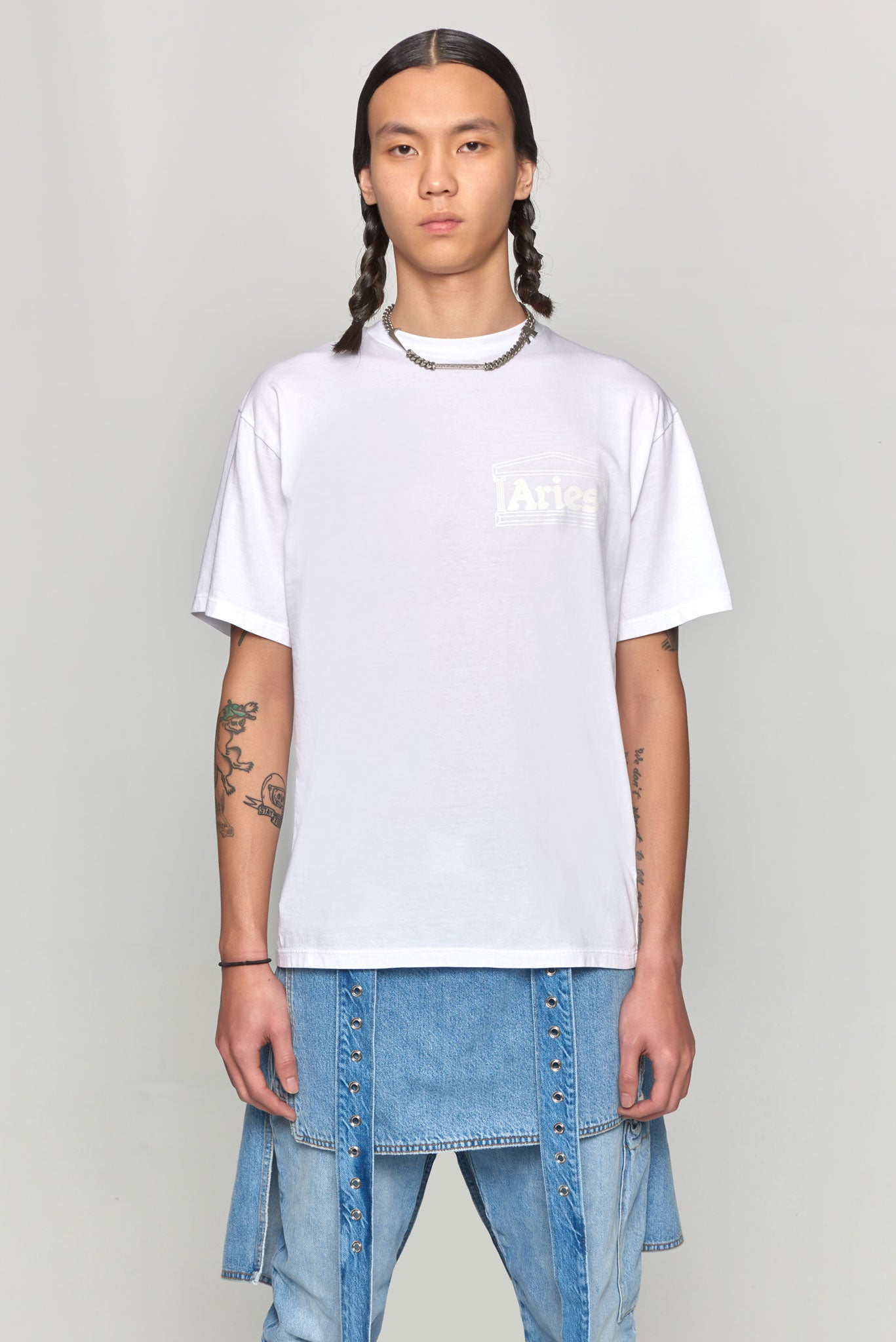 Basic Temple Tee White