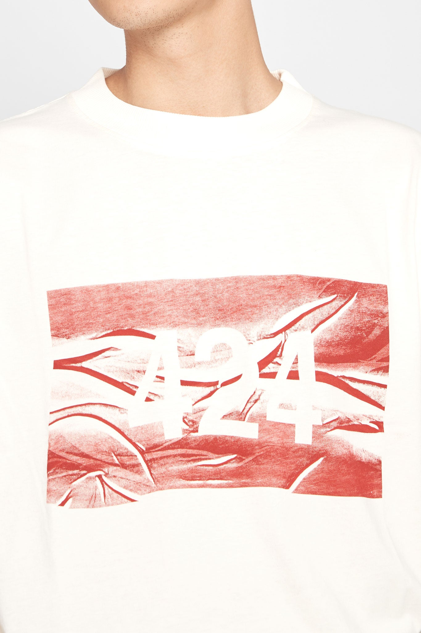 424 Box T-shirt Cream
