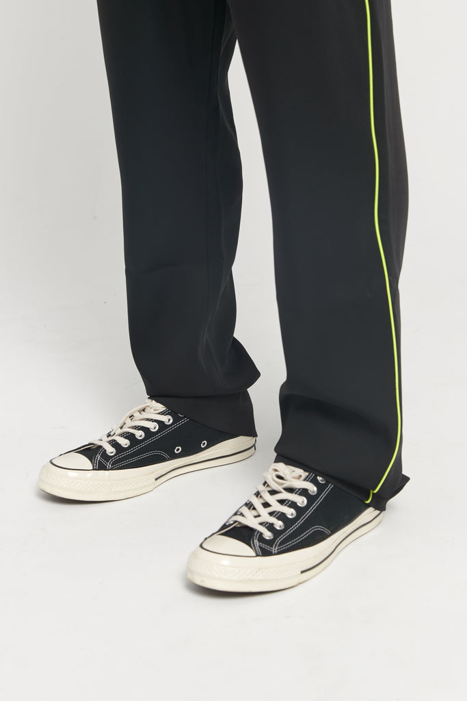 Exclusive Buck Black Neon Piping Track pants