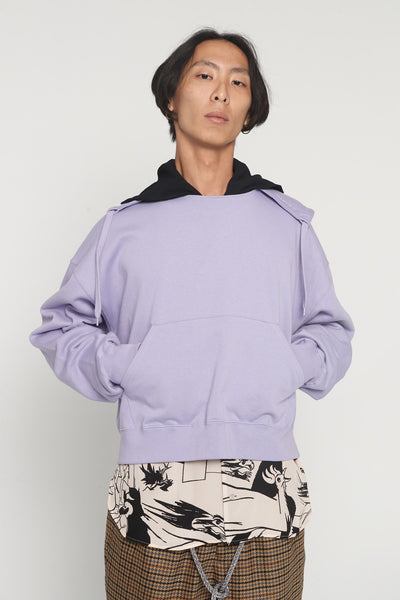 CMMN SWDN - Tyrone Lavender Boxy Hoodie
