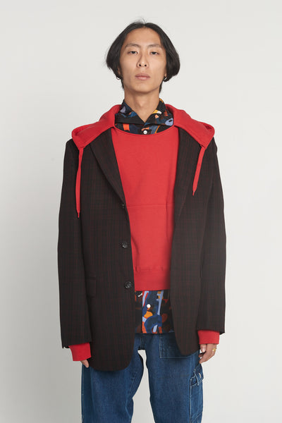 CMMN SWDN - Arman Long Suit Red Check