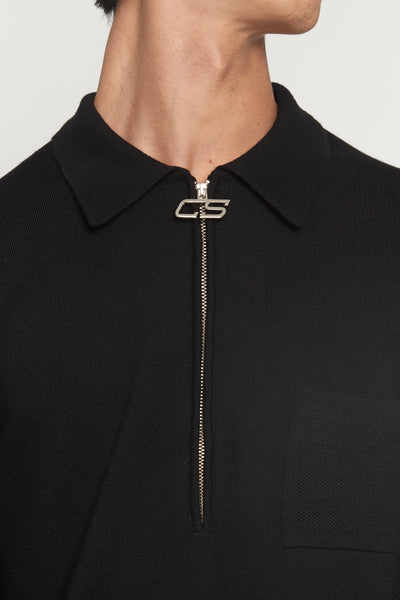 Curtis Black Half Zip Polo Sweater