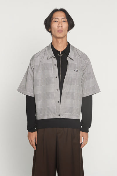 CMMN SWDN - Damien Dropped Neck Prince of Wales Boxy Shirt
