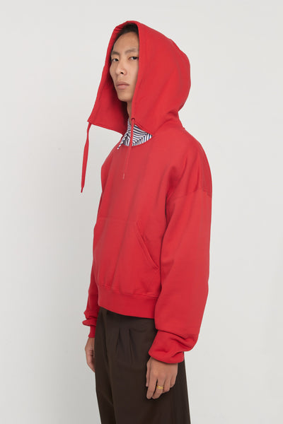Tyrone Red Boxy Hoodie