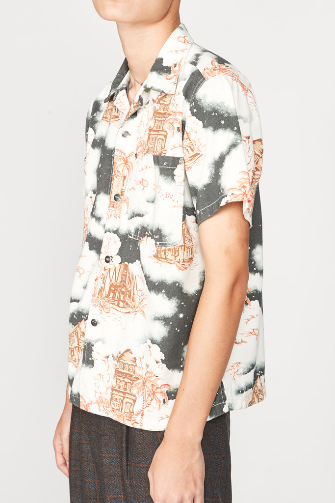 Hawaiian Print Dark Shirt