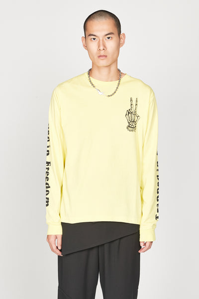 Vyner Articles - Acid Yellow Long sleeve T-Shirt