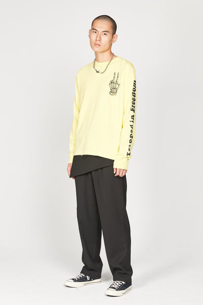 Acid Yellow Long sleeve T-Shirt