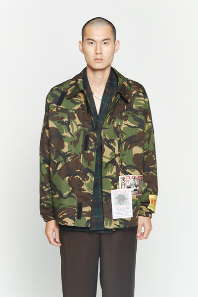 Martine Rose - Camo Coat Green