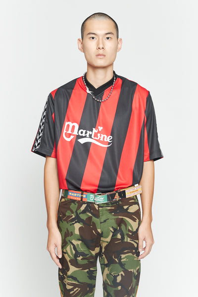 Martine Rose - S/S Twist Football Top Red/Black