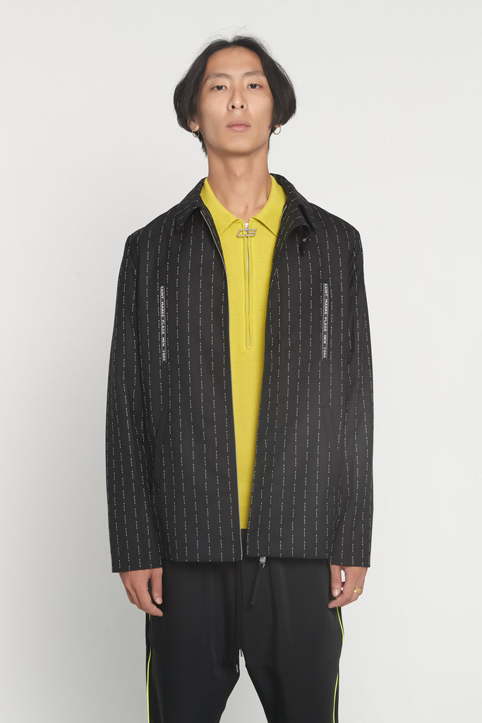 Collard Suit Jacket Black