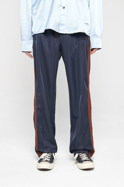 Our Legacy - Track Pants Brown Side Stripe VCT Navy