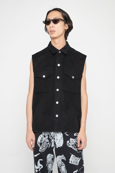 Our Legacy - Sleeveless Xplore Shirt Cash Wool Black