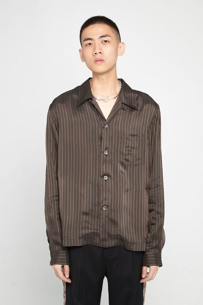 Our Legacy - P.X. Evening Shirt Brown Stripe