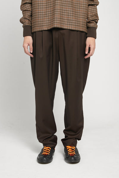 Closed Window - Dan Wide Leg Carrot Trousers Espresso Brown