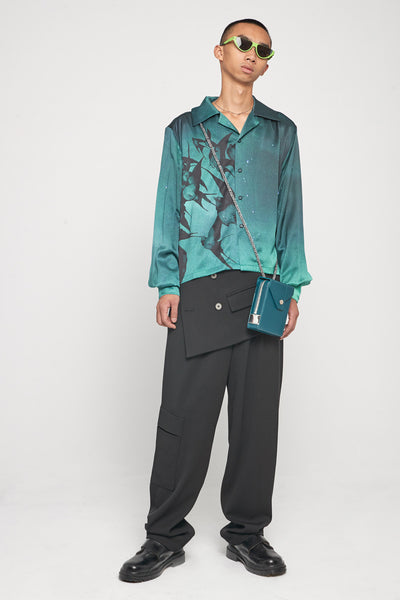 Shin Loose Silk Shirt Aurora