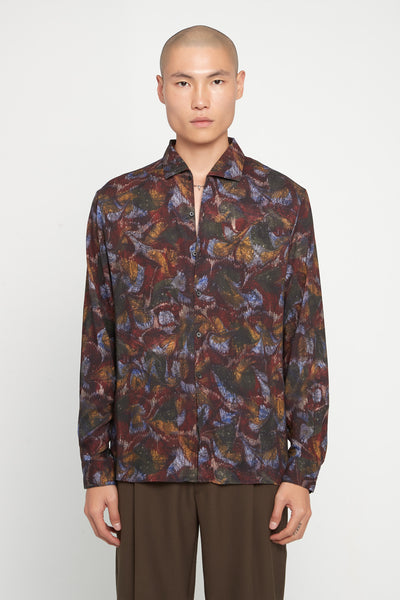 Lemaire - Spread Collar Shirt Multicolor