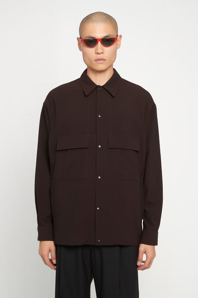 Lemaire - 4 Pockets Over Shirt Brown
