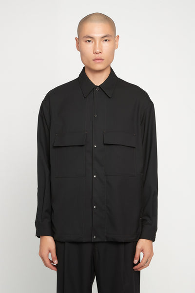 Lemaire - 4 Pockets Over Shirt Black