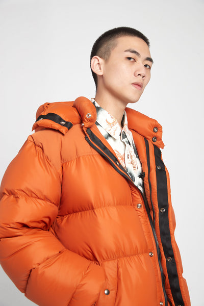 Crescent Down Works Puffer Orange
