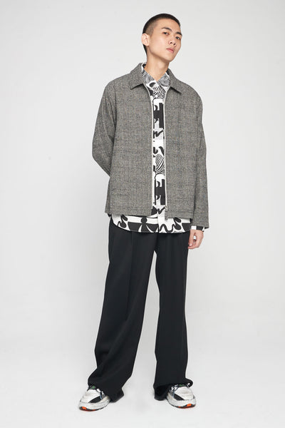 Classic Shirt Heather Print Black/White