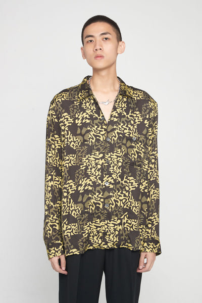 Très Bien - Short Tunic Shirt ALP Print Gold