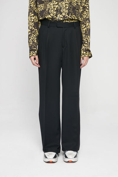 Très Bien - Volume Trouser Wool Black