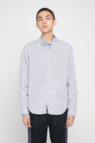Très Bien - Running Shirt Thin Stripe White/Blue