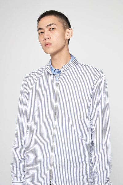 Running Shirt Thin Stripe White/Blue
