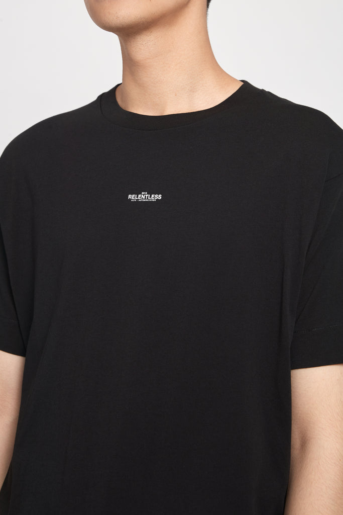 City Scape Back Tee Black