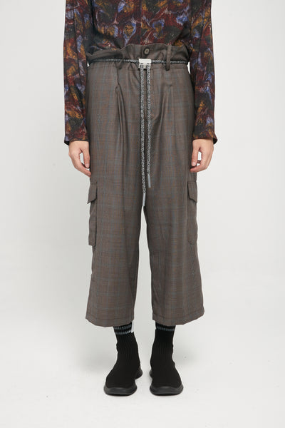 Closed Window - Sail Oversized Waist Drawcord Trouser Tom Brown Prince Of Wales