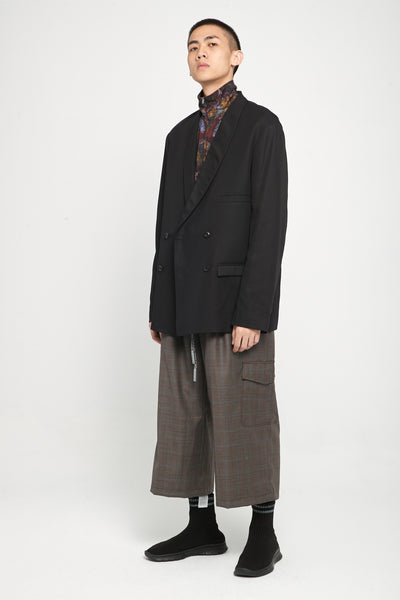 Sail Oversized Waist Drawcord Trouser Tom Brown Prince Of Wales