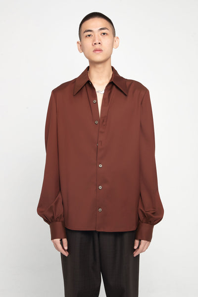 Closed Window - Craig Drappy Shirt Cinnamon Brown Wool