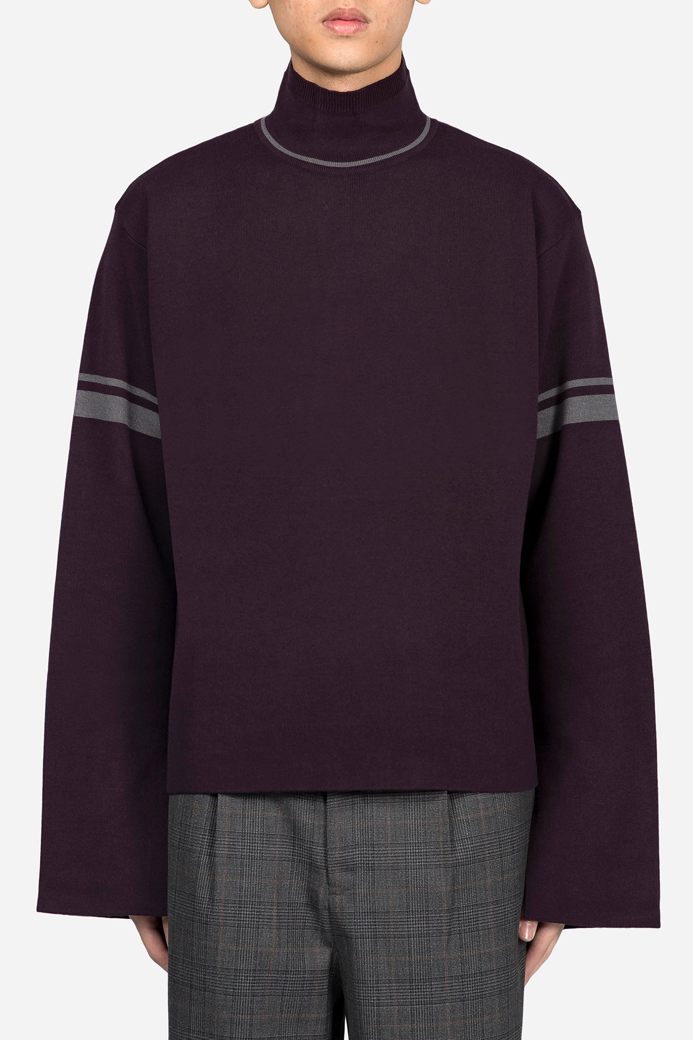 Jackson Turtleneck Sweater Rasin Purple Greystone