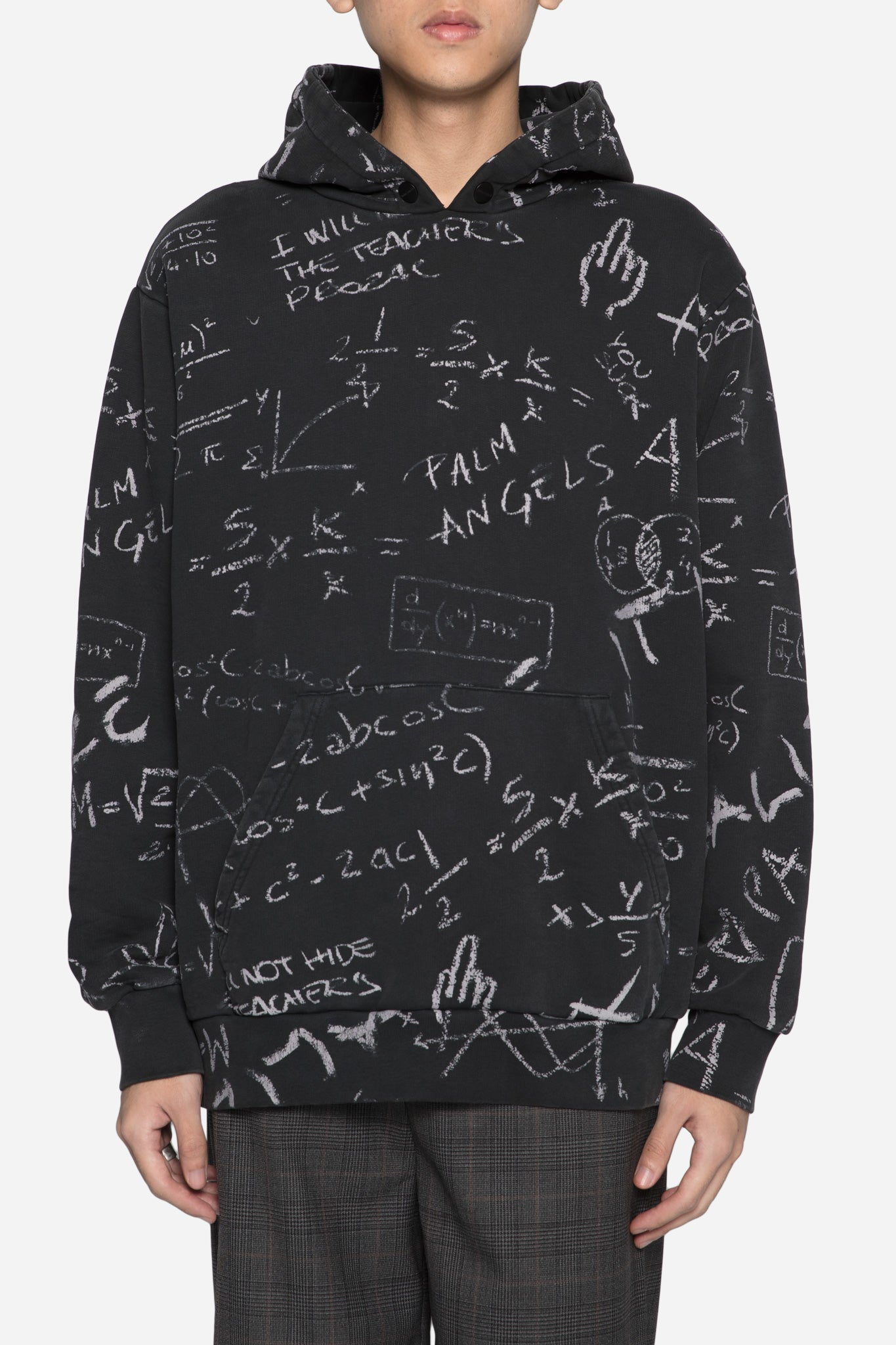 Blackboard Hoodie All Over Black