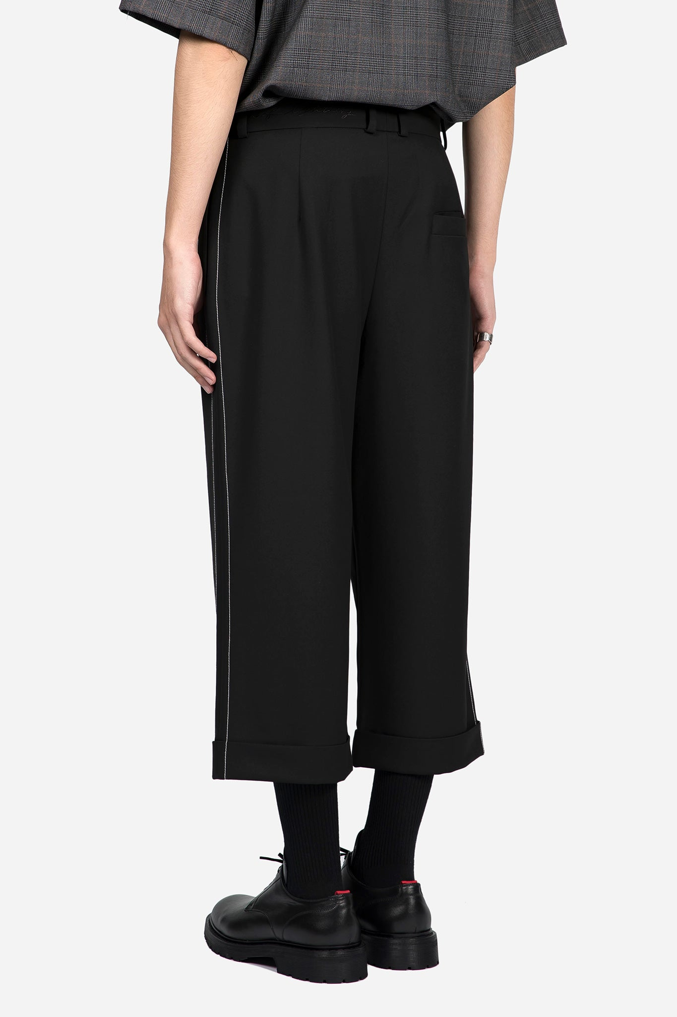 Dane Baggy Trouser Dry Onyx