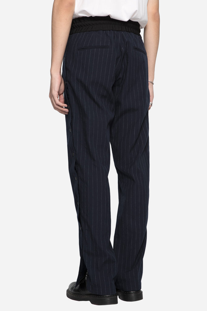 Open Side Track Pants Pinstripe